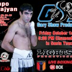Gabriel Tolmajyan in Action on Oct. 1st.