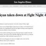 LA Times: Khashakyan Taken down at Fight Night 4