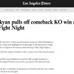 LA Times: Alfred Khashakyan Fight Night
